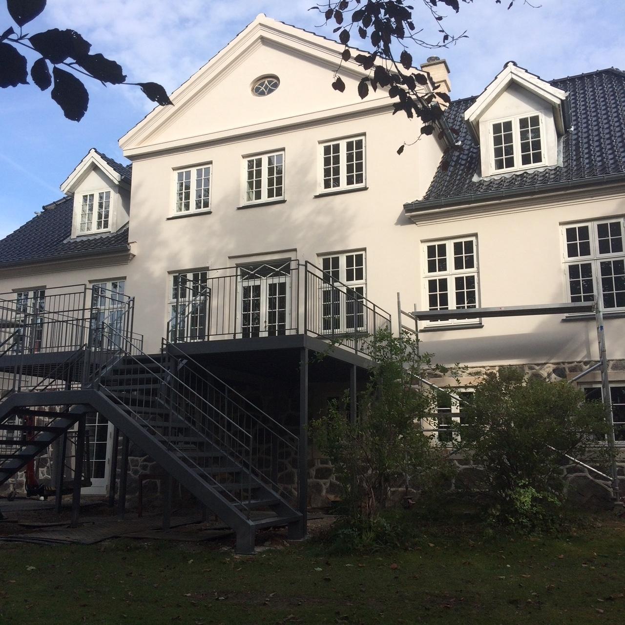 Facaderenovering med silicatmaling Sydsjælland